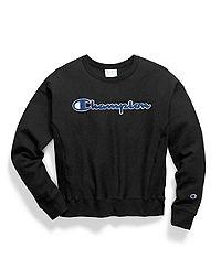 Champion Life® Women's Reverse Weave® Crew, Chenille Logo