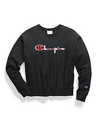 Champion Life® Women's Reverse Weave® Crew, 3-Color Vintage Logo