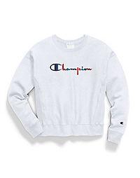 Champion Life® Women's Reverse Weave® Crew, 3-Color Vintage Logo
