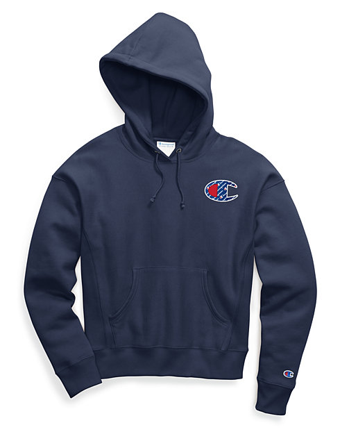 Champion Life® Women's Reverse Weave® Pullover Hood, Sublimated Big C Logo