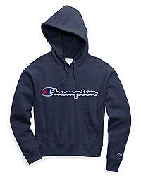 Champion Life® Women's Reverse Weave® Pullover Hood, Chenille Logo