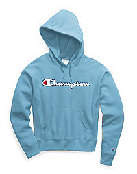 Champion Life® Women's Reverse Weave® Pullover Hoodie, Chenille Logo