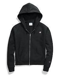 Champion Life® Women's Reverse Weave® Full Zip Hood, C Logo