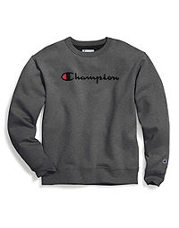Champion Men's Powerblend® Crew, Script Logo
