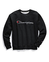Champion Men's Powerblend® Fleece Crew, Felt Script Logo With Chainstitch