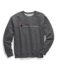 Champion Men's Powerblend® Fleece Crew, Felt Script Logo With Chainstitch