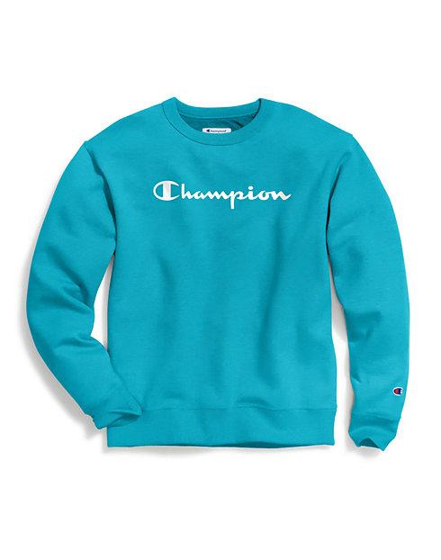 8ae573cc883f Champion Men's Powerblend® Fleece Crew, Script Logo | Champion