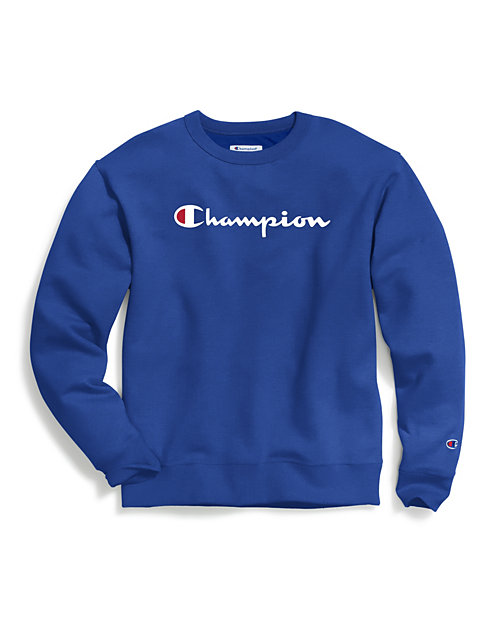 Champion Men's Powerblend®  Fleece Crew, Script Logo