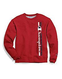 Champion Men's Powerblend® Fleece Crew, Vertical Logo