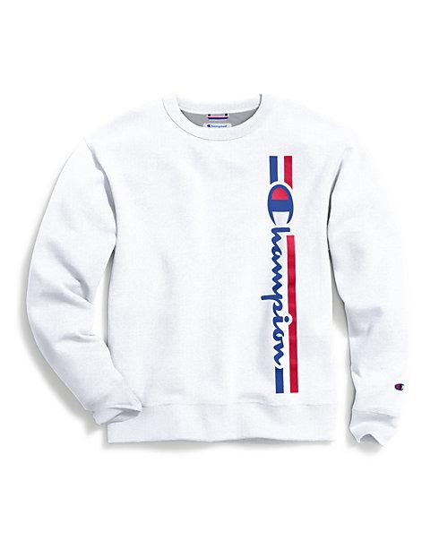 409ac17dca5d Champion Men's Powerblend® Fleece Crew, Vertical Logo | Champion