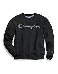 Champion Men's Powerblend® Fleece Crew, Logo With White Chainstitch