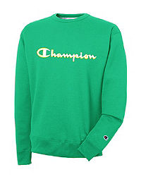 Champion Men's Powerblend Crew Satin Stitch Logo