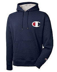 Champion Men's Powerblend® Pullover Hoodie, Big C Logo