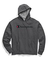 Champion Men's Powerblend® Pullover Hoodie, Script Logo