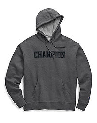 Champion Men's Powerblend® Fleece Pullover Hoodie, Mesh-Effect Logo