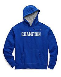 Champion Men's Powerblend® Fleece Pullover Hoodie, Mesh-Effect Logo