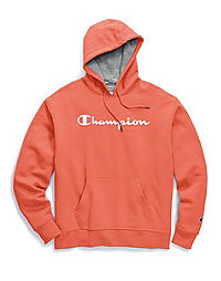 Champion Men's Powerblend® Fleece Pullover Hoodie, Script Logo