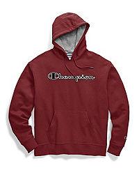 Champion Men's Powerblend® Fleece Pullover Hoodie, Chainstitch Outline Logo