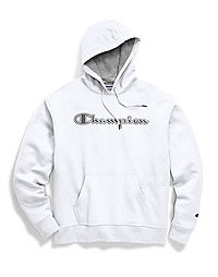 Champion Men's Powerblend® Fleece Pullover Hoodie, Chainstitch Outline Logo