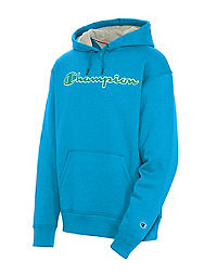 Champion Men's Powerblend Hoodie, Satin Stitch Logo