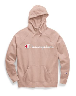 Champion Women's Powerblend® Fleece Pullover Hoodie, Script Logo