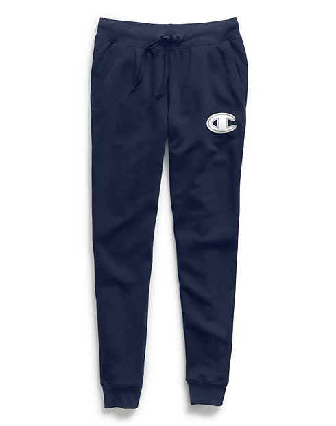 Champion Women's Powerblend® Fleece Joggers, Chainstitch C Logo