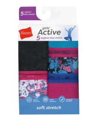 Hanes Girls'  Active Stretch Gymshorts 5-Pack