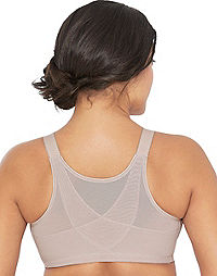 Glamorise ComfortLift Posture Back Support Wirefree Bra
