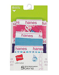Hanes Ultimate® Girls' Sport Microfiber Bikinis 5-Pack