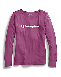 Champion Women Classic Long-Sleeve Tee, Script Logo