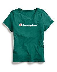 Champion Women's Classic Tee, Script Logo
