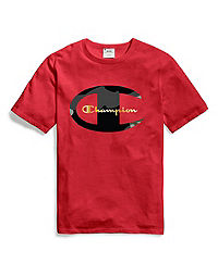 Champion Life® Men's Tee, Camo C & Gold Logo