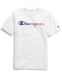 Exclusive Champion Life® Men's Tee, Patriotic Script Logo