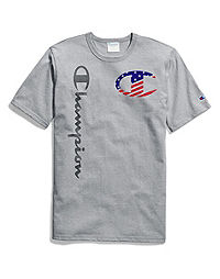 9101efca46754b Exclusive Champion Life® Heritage Americana Tee, Patriotic Big C