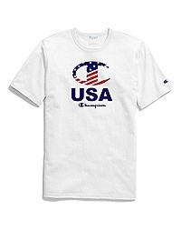 Exclusive Champion Life® Heritage Americana Tee, Stripe C Logo