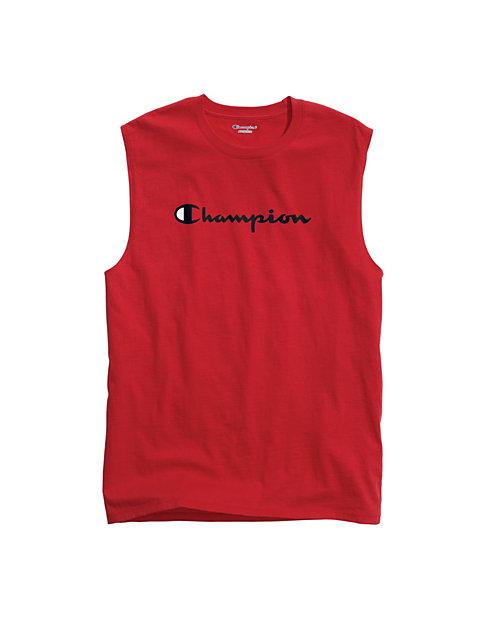 1b893cb3eeb4 Champion Men's Classic Jersey Muscle Tee, Script Logo | Champion