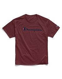 Champion Men's Graphic Jersey Tee, Script Logo