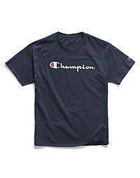 Champion Men's Graphic Jersey Tee, Script Logo