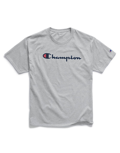 8d11f85c Champion Men's Graphic Jersey Tee, Script Logo | Champion