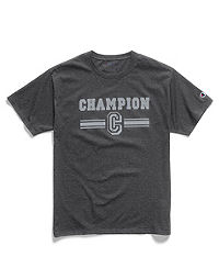 Champion Men's Graphic Jersey Tee, 3-Line C Logo