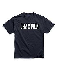 Champion Men's Classic Jersey Tee, Block Logo