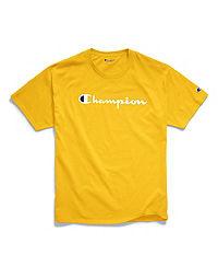 Champion Men's Classic Jersey Tee, Script Logo