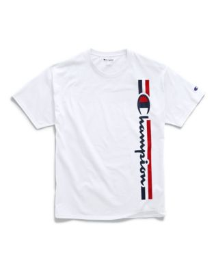Champion Men's Classic Jersey Tee, Vertical Logo