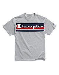 b5ede96f759f Champion Men's Classic Jersey Tee, Logo with Stripes