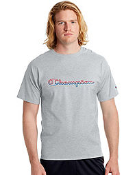 Champion Men's Jersey Tee, Split Script Logo