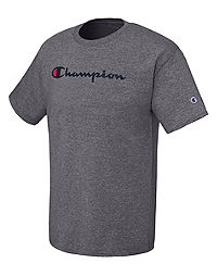 Champion Men's Cotton Script Logo Tee