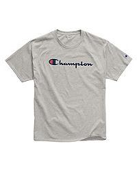 Champion Men's Cotton Script Logo Tee