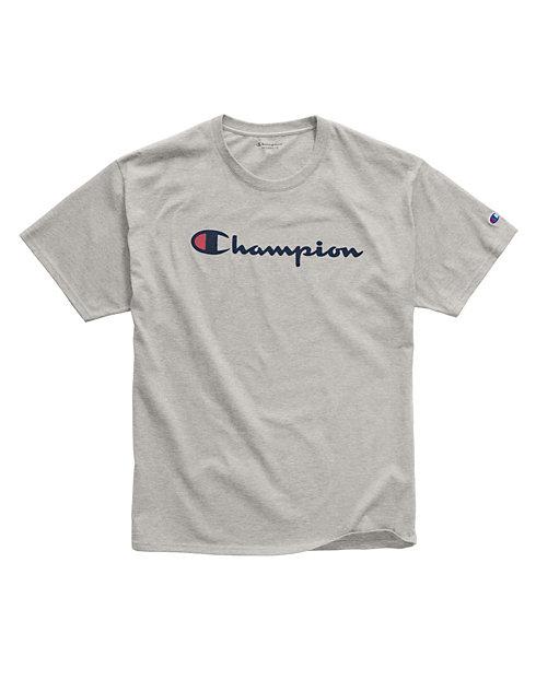 bf25a91fd659 Champion Men's Cotton Script Logo Tee   Champion