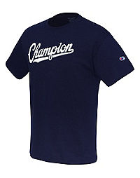 Champion Men's Jersey Tee, Baseball Script Logo