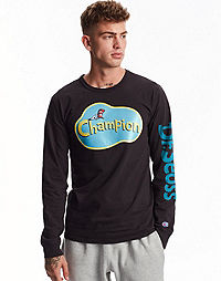 Champion Life® x Dr. Seuss Men's Long-Sleeve Tee, The Cat In The Hat